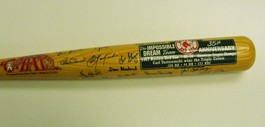 "1967 Boston Red Sox ""Impossible Dream"" Team Autographed 35th Anniversary Special Edition Bat"