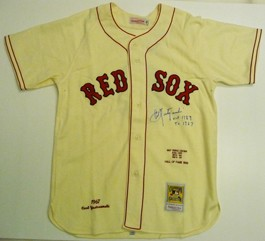 big sale f671a 4cfb8 Carl Yastrzemski Autographed 1967 Mitchell and Ness Jersey ...