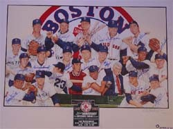 1967 Boston Red Sox Autographed 35th Anniversary Poster Created by Renowned Artist Paul Madden