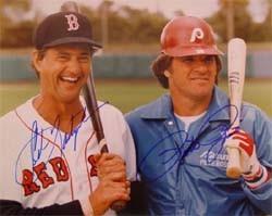 Carl Yastrzemski and Pete Rose Autographed Photo