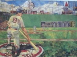 Carl Yastrzemski Limited Edition Lithograph Autographed by Yaz and Artist Opie Otterstad.