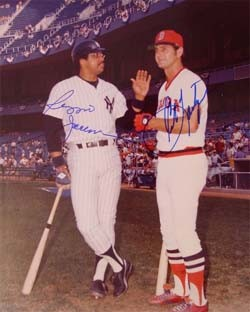 Carl Yastrzemski and Reggie Jackson Autographed Photo