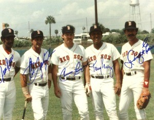 1981 Boston Red Sox Greats Autographed Photo