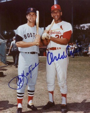 Carl Yastrzemski and Orlando Cepeda Autographed Photo