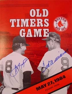 Carl Yastrzemski and Ted Williams Autographed Program