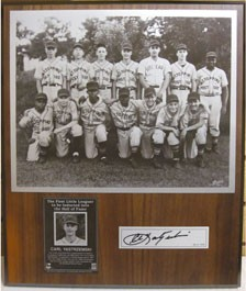 Carl Yastrzemski Autographed Little League Plaque
