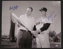 Carl Yastrzemski and Bob Feller Autographed Photo