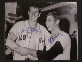 Carl Yastrzemski and Jim Lonborg Autographed Photo