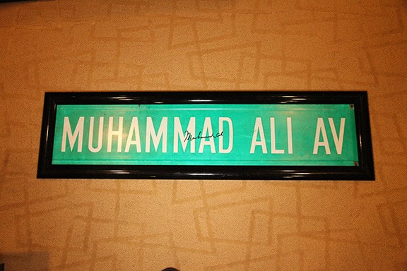 Signed Muhammad Ali Street sign in Mint condition