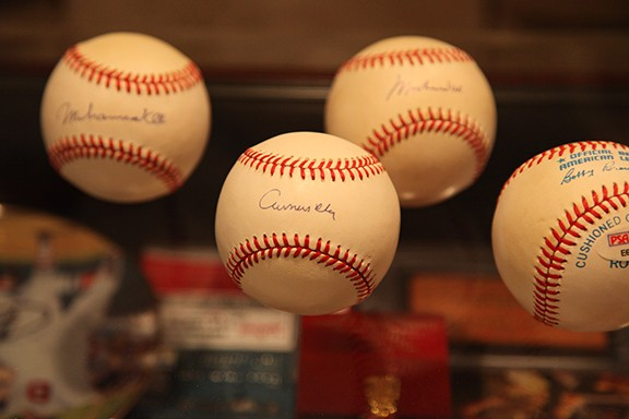 Very Rare Major League Baseballs signed with Pen by Muhammad Ali signing his birth name Cassicus Clay