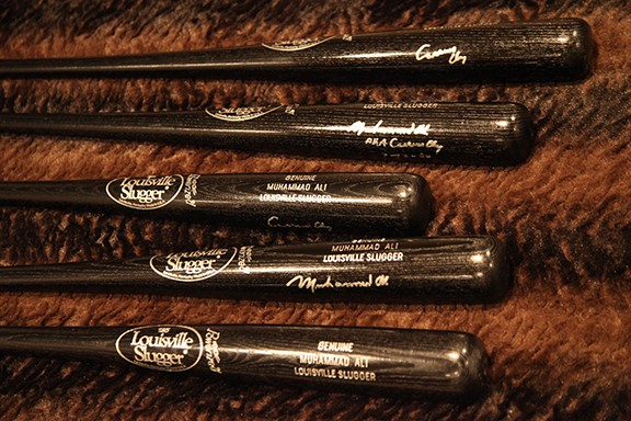 Muhammad Ali Signed Louisville Slugger Bat in Mint Condition Signed Muhammad Ali is $2500 and signed Cassicus Clay is $3000 Comes with Letter of Authenticity
