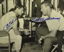 Ted Williams and Carl Yastrzemski Autographed Locker Room Photo