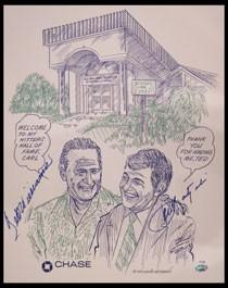 Ted Williams Carl Yastrzemski Autographed Poster