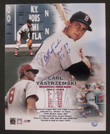 "Carl Yastrzemski Career ""Stats"" Autographed Photo"