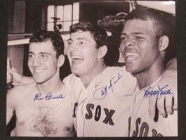 Carl Yastrzemski, Rico Petrocelli and Reggie Smith Autographed Photo