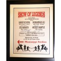 16x20 Framed Advertising Poster From appearance in Atlantic City, NJ. 1988 Signed by Muhammad Ali, Sandy Koufax, Joe Namath and Mickey Mantle