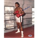 Signed 8x10 of Muhammad Ali working out in the gym