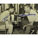 Ted Williams and Carl Yastrzemski Autographed Locker Room Photo