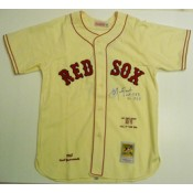 Carl Yastrzemski Autographed 1967 Mitchell and Ness Jersey with HOF 1989 and TC 1967 Inscriptions