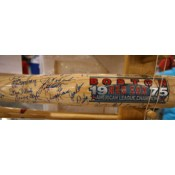 1975 Boston Red Sox Championship Team Limited Edition Autographed Bat