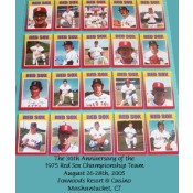 1975 Boston Red Sox Championship Team Autographed Poster