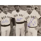 Carl Yastrzemski, Jim Rice and Fred Lynn Autographed Photo