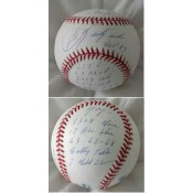 Carl Yastrzemski Autographed Baseball with his 14 Major Statistics Inscribed