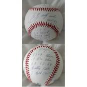 Carl Yastrzemski Autographed Baseball with his 14 Major Statistics Inscribed