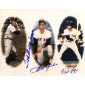 Ted Williams, Carl Yastrzemski and Wade Boggs Autographed Photo