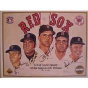 Autographed Upper Deck Photo Card of 25th Anniversary of the 1967 Red Sox Impossible Dream Team