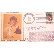 Carl Yastrzemski Autographed Gateway Cover Commemorating Yaz Induction into The Baseball Hall of Fame