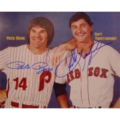Carl Yastrzemski and Pete Rose Autographed Sports Illustrated Cover Photo (8 x 10)