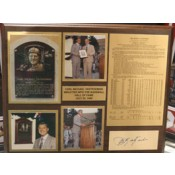 Carl Yastrzemski Autographed Wood Plaque with Career Stats