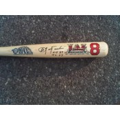 Carl Yastrzemski 50 Years Major League Debut with Red Sox Commemorative Autographed Bat