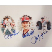 Dwight Evans Carlton Fisk Carl Yastrzemski Autographed Photo