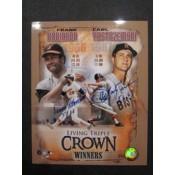 2 Triple Crown Carl Yastrzemski Frank Robinson Autographed Poster