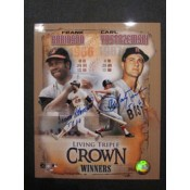 Carl Yastrzemski and Frank Robinson 2 Triple Crown Autographed Poster