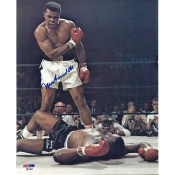 Signed 8x10 of Muhammad Ali after knocking down Sonny Liston in the ring Comes with Letter of Authenticity