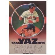 Carl Yastrzemski Autographed 3000 Hit 400 HR Poster